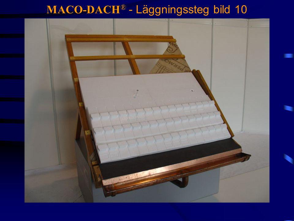 MACO-DACH® - Läggningssteg bild 10
