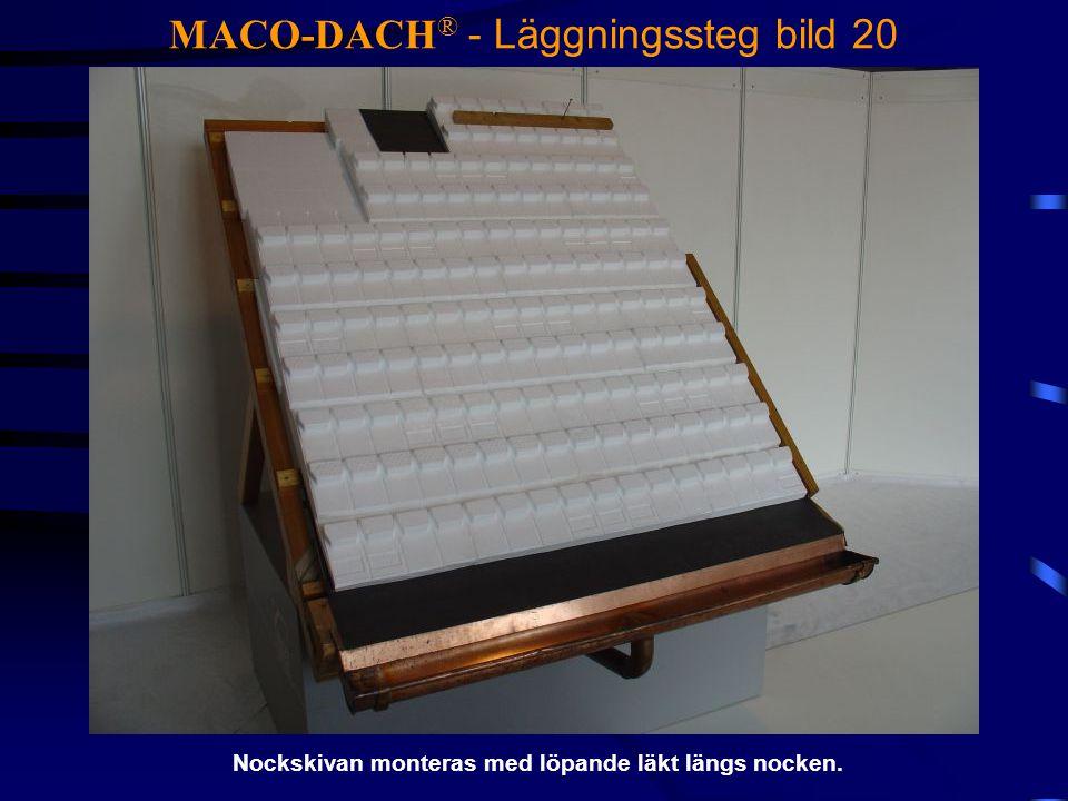 MACO-DACH® - Läggningssteg bild 20