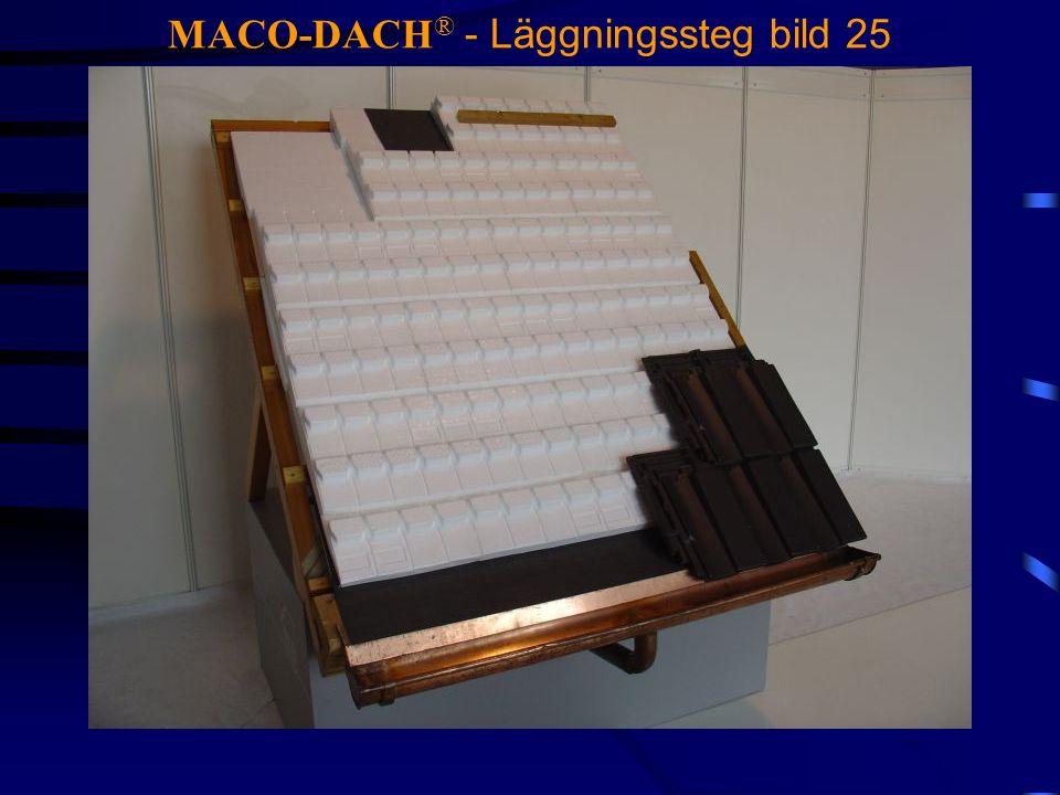 MACO-DACH® - Läggningssteg bild 25