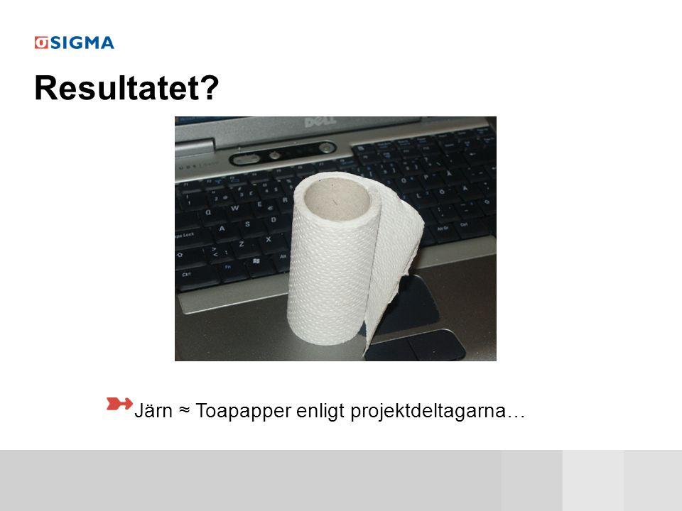 Järn ≈ Toapapper enligt projektdeltagarna…
