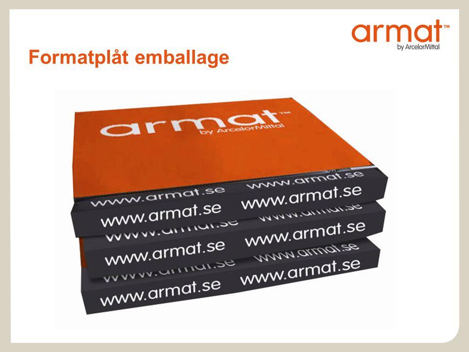Formatplåt emballage