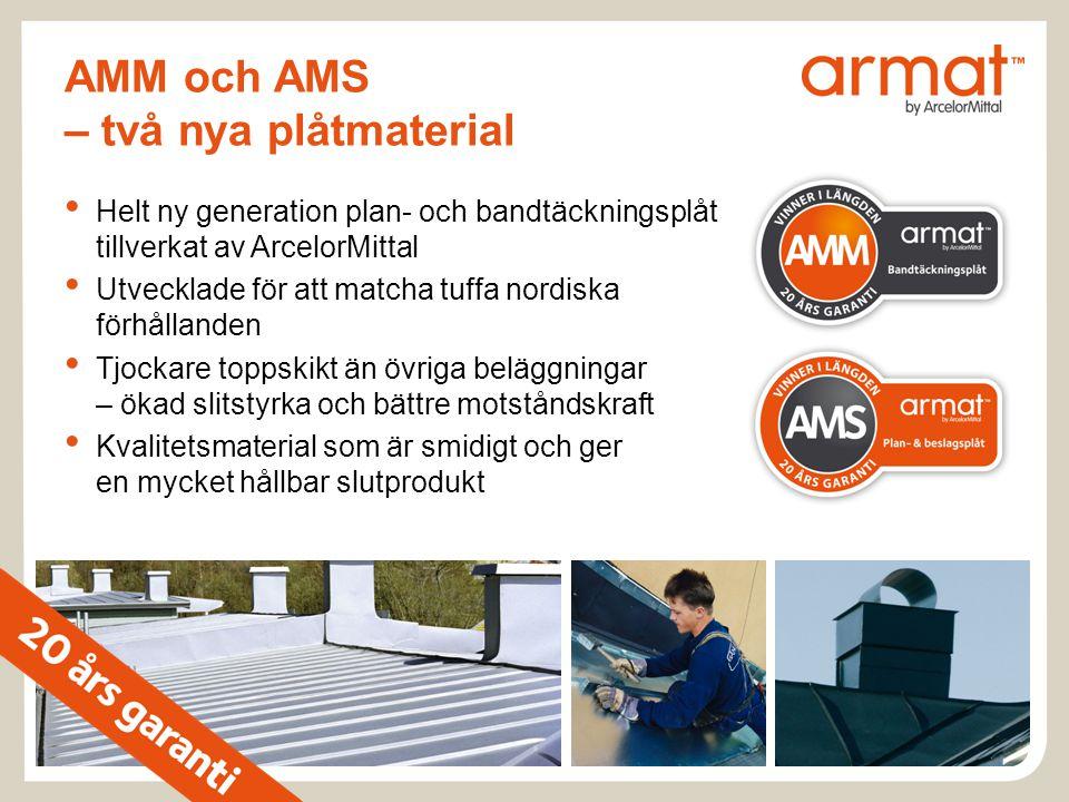 AMM och AMS – två nya plåtmaterial