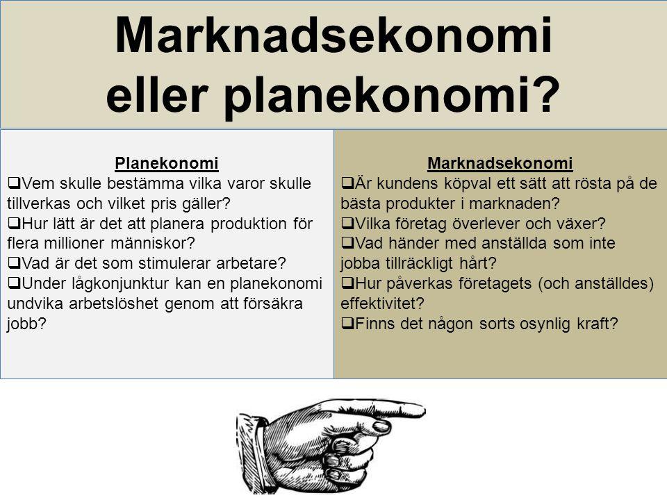 Marknadsekonomi eller planekonomi