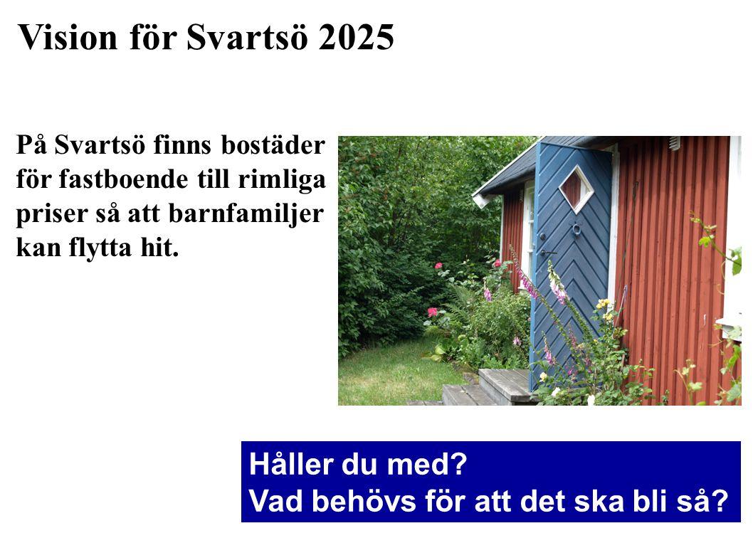 Vision för Svartsö 2025 Håller du med