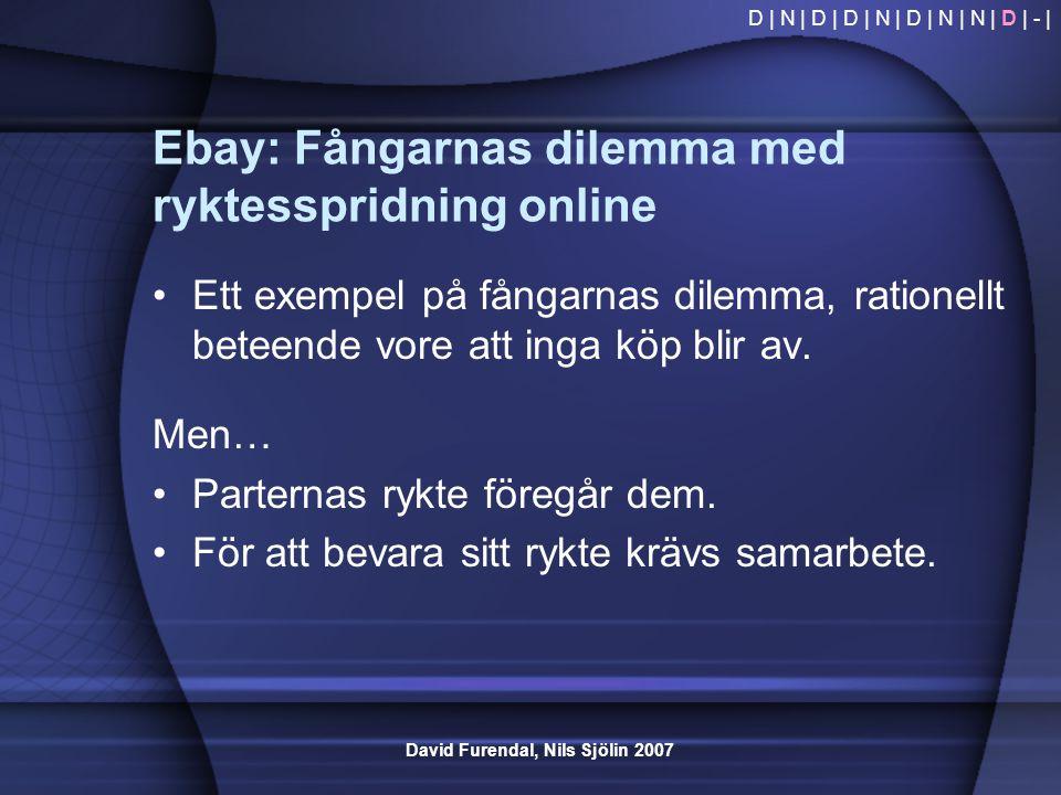 Ebay: Fångarnas dilemma med ryktesspridning online