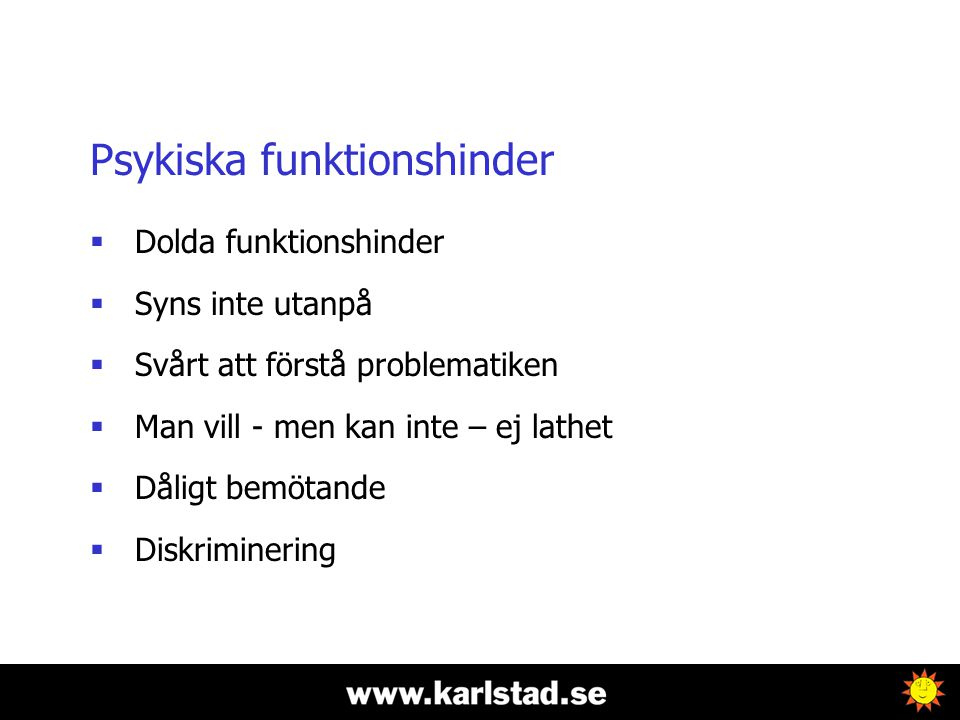 Psykiska funktionshinder