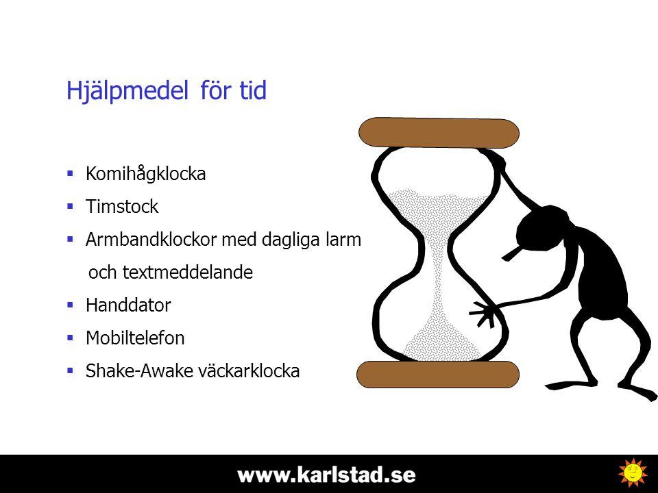 Hjälpmedel för tid Komihågklocka Timstock