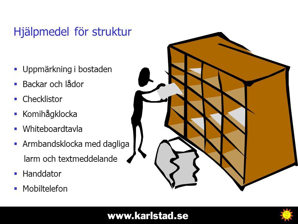 Hjälpmedel för struktur