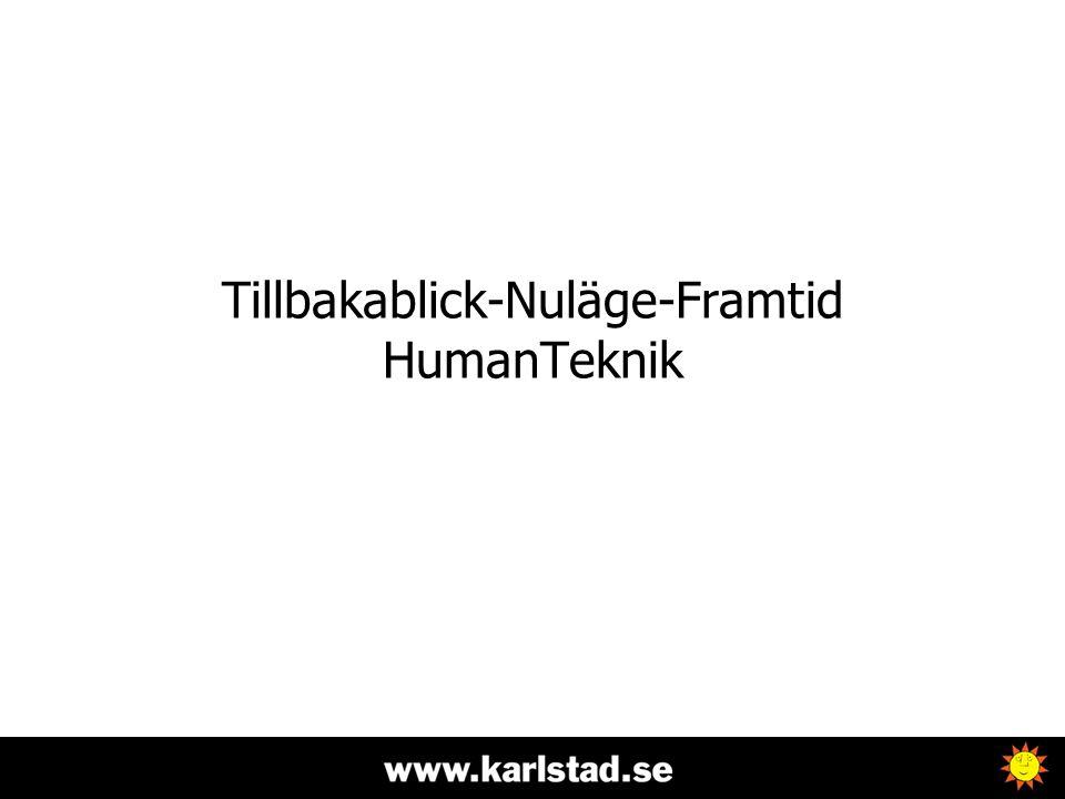 Tillbakablick-Nuläge-Framtid HumanTeknik