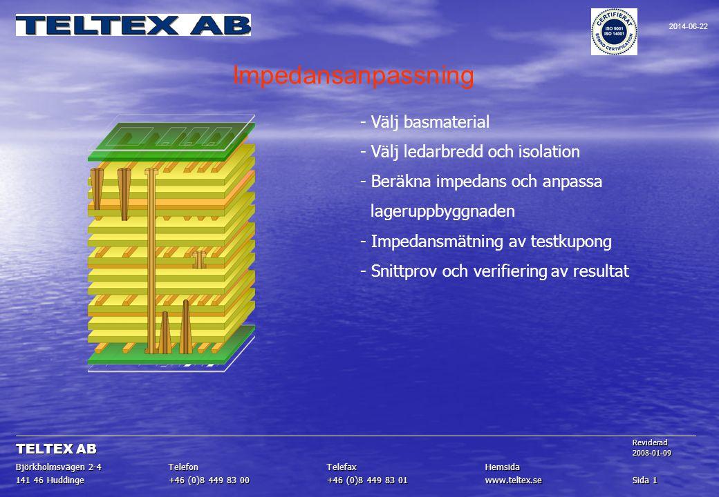 Impedansanpassning - Välj basmaterial - Välj ledarbredd och isolation
