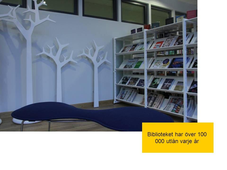 Biblioteket har över 100 000 utlån varje år