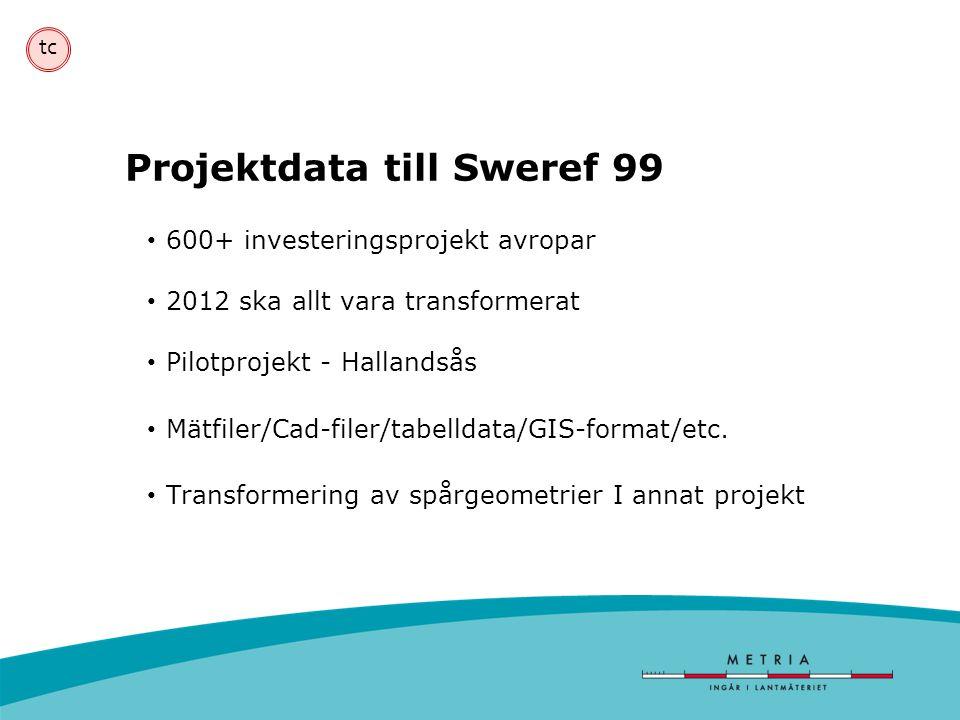 Projektdata till Sweref 99