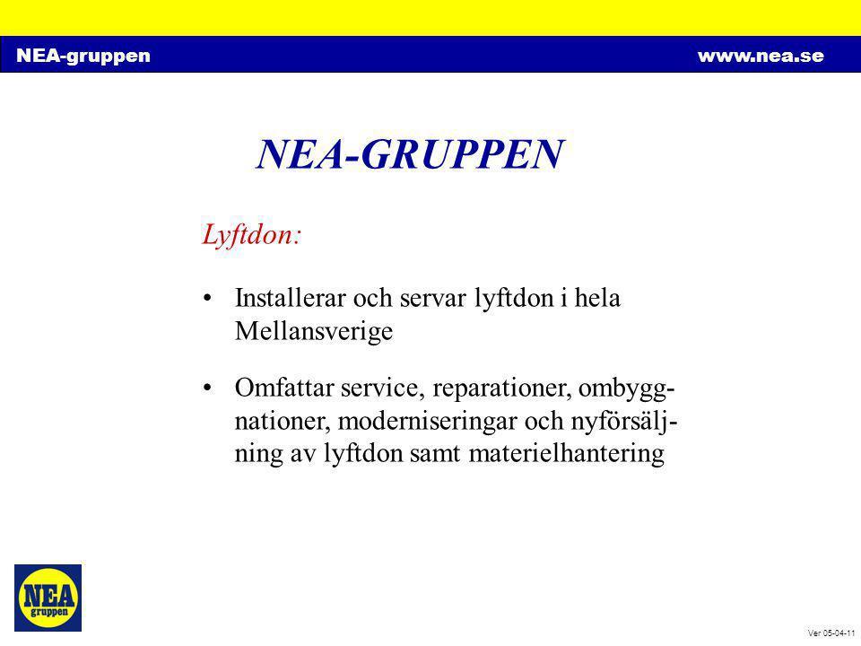 NEA-GRUPPEN Lyftdon: Installerar och servar lyftdon i hela Mellansverige.