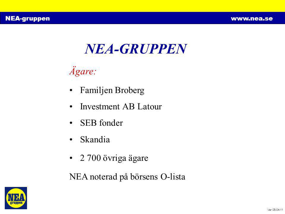 NEA-GRUPPEN Ägare: Familjen Broberg Investment AB Latour SEB fonder
