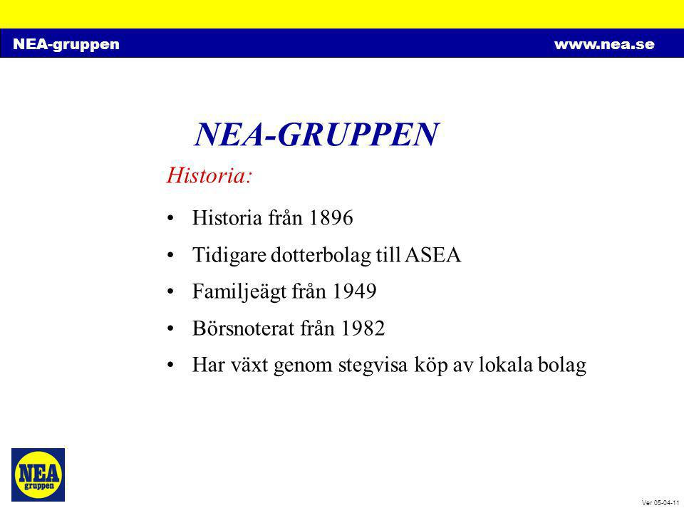 NEA-GRUPPEN Historia: Historia från 1896