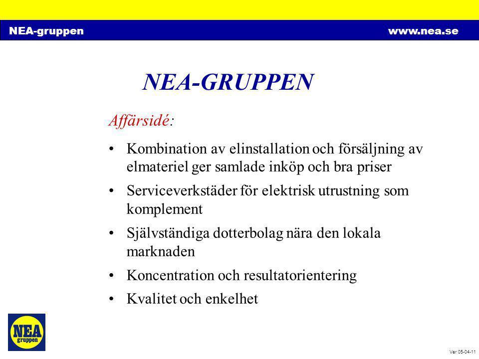 NEA-GRUPPEN Affärsidé:
