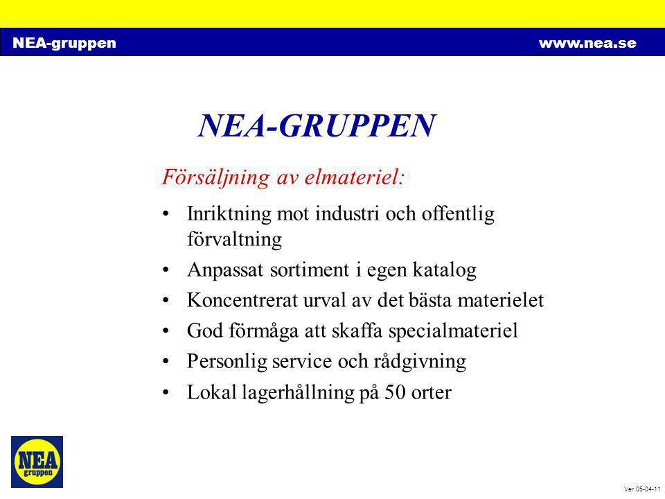 NEA-GRUPPEN Försäljning av elmateriel: