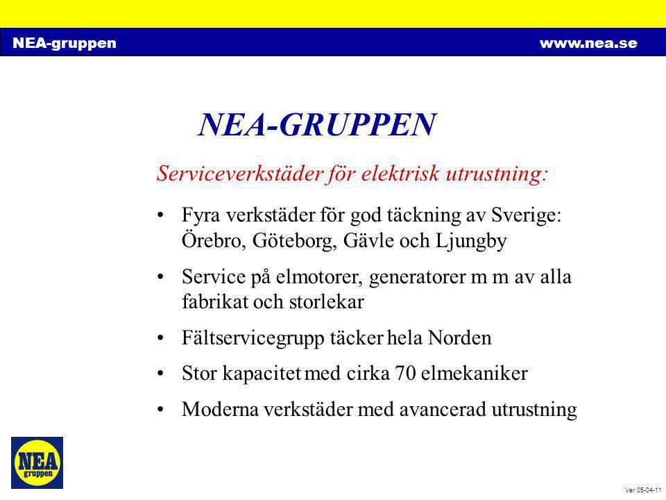 NEA-GRUPPEN Serviceverkstäder för elektrisk utrustning: