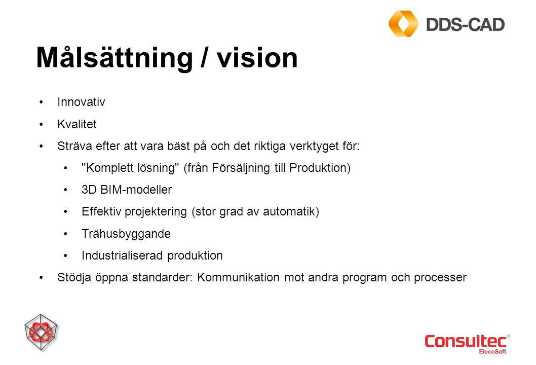 Målsättning / vision Innovativ Kvalitet