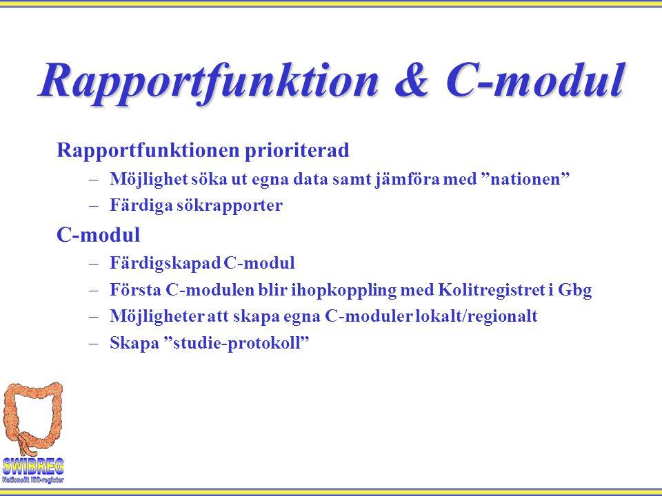 Rapportfunktion & C-modul