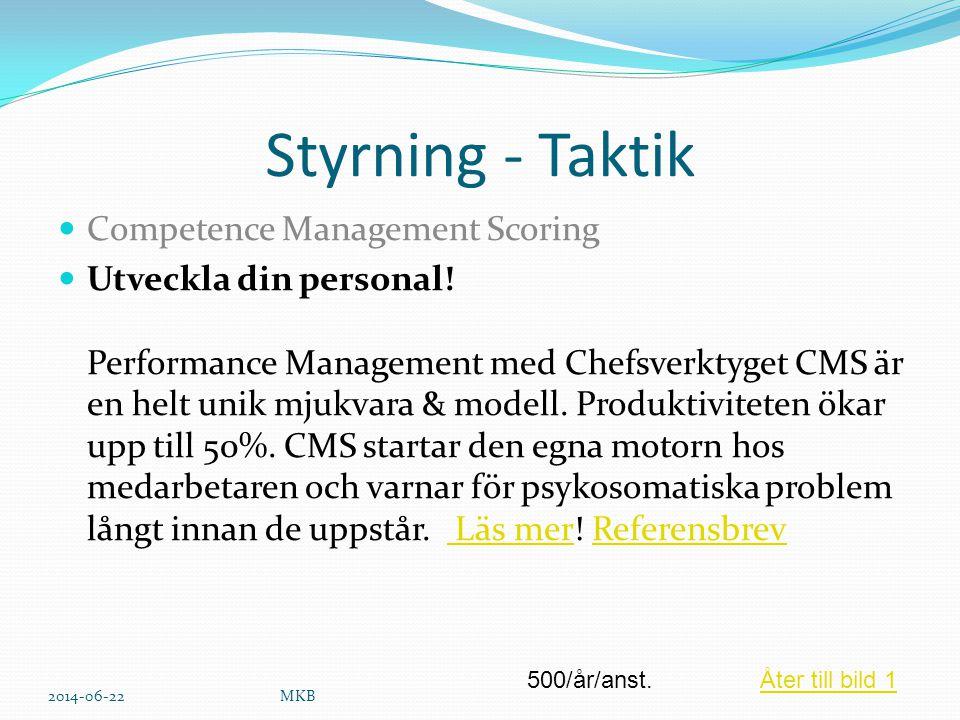 Styrning - Taktik Competence Management Scoring