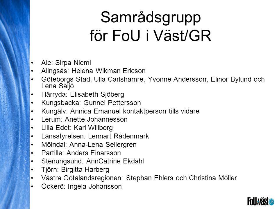Samrådsgrupp för FoU i Väst/GR