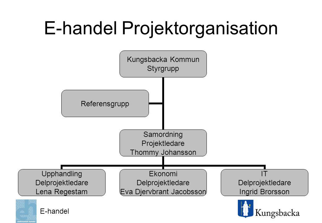 E-handel Projektorganisation