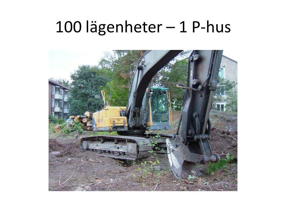 100 lägenheter – 1 P-hus