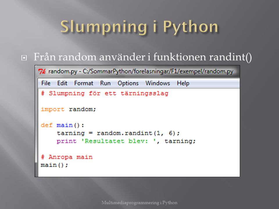 Multimediaprogrammering i Python