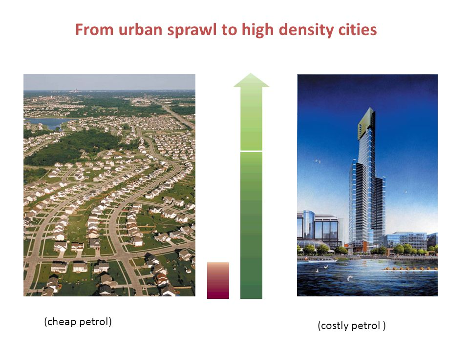 From urban sprawl to high density cities