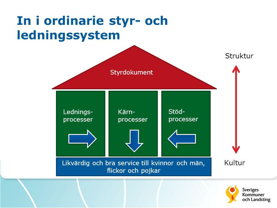 In i ordinarie styr- och ledningssystem