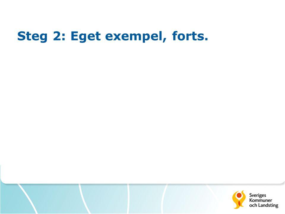 Steg 2: Eget exempel, forts.