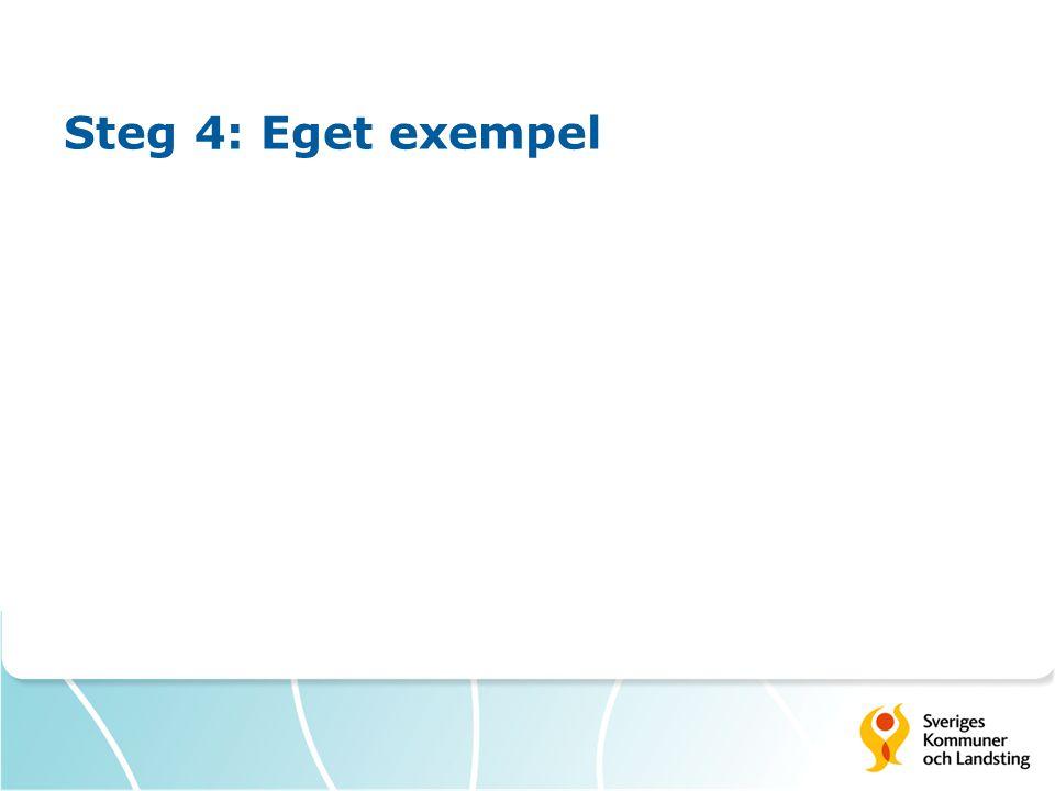 Steg 4: Eget exempel
