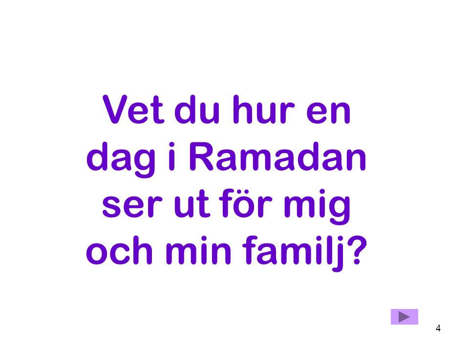 Vet du hur en dag i Ramadan ser ut för mig och min familj