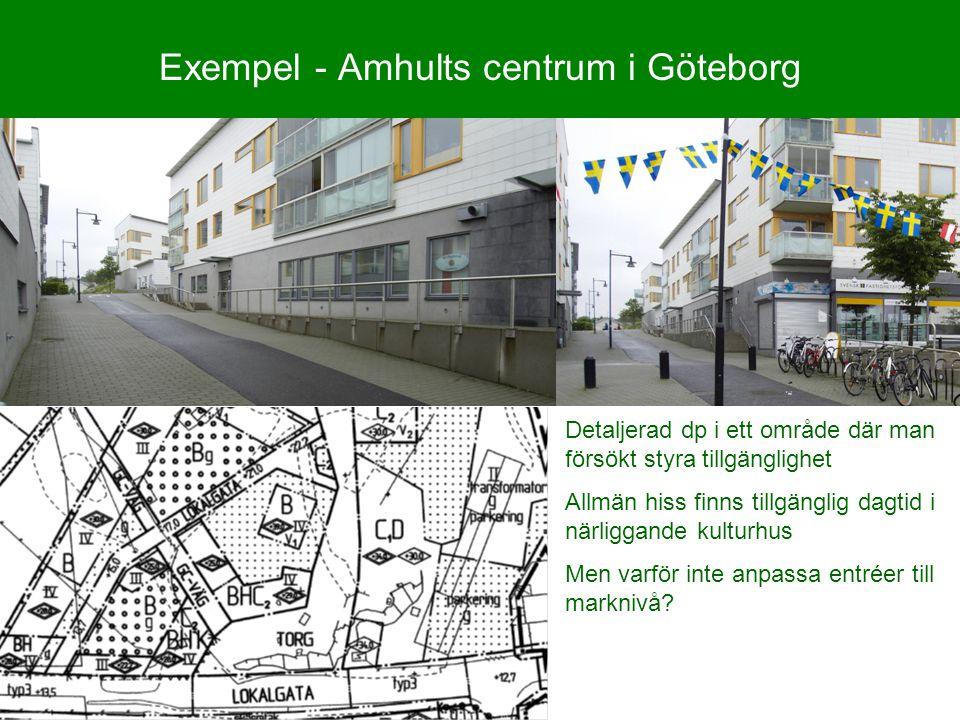 Exempel - Amhults centrum i Göteborg