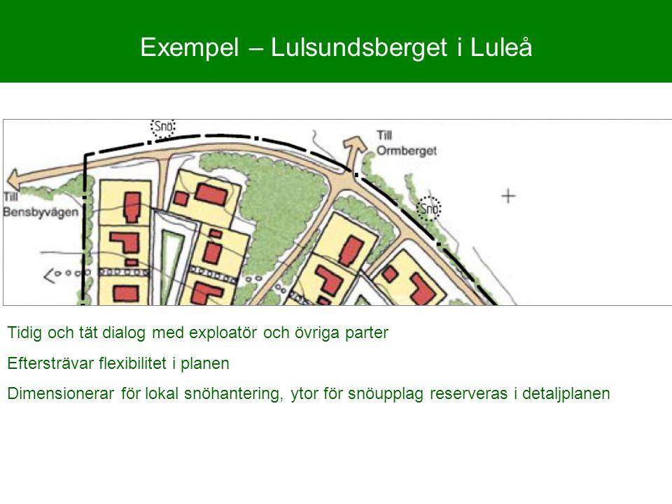 Exempel – Lulsundsberget i Luleå