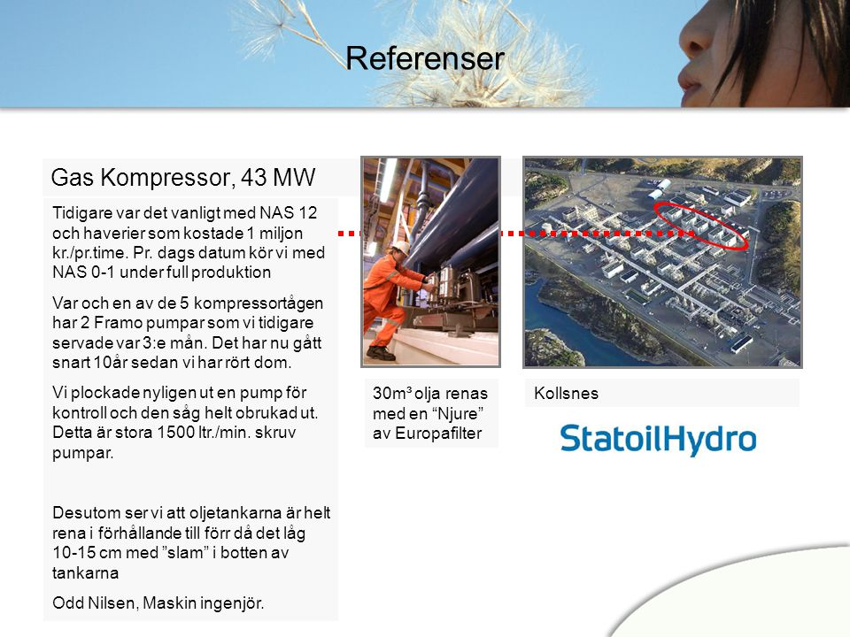 Referenser Gas Kompressor, 43 MW