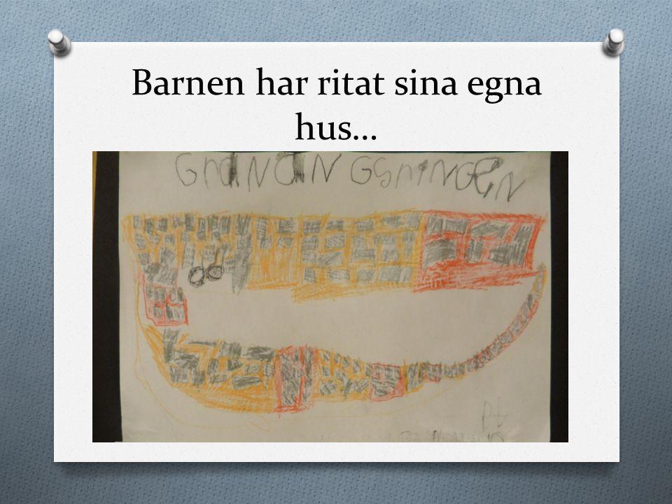 Barnen har ritat sina egna hus…