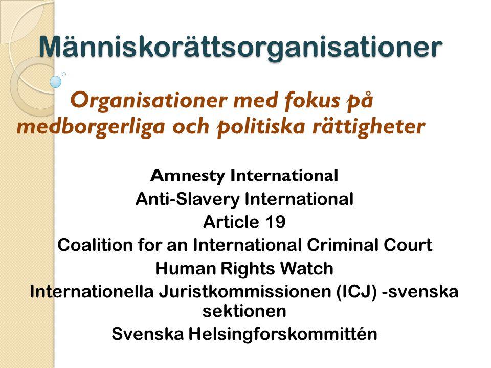 Människorättsorganisationer