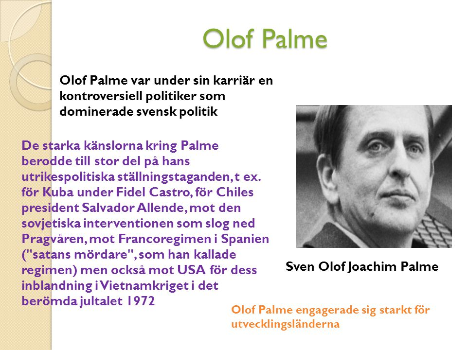 Sven Olof Joachim Palme