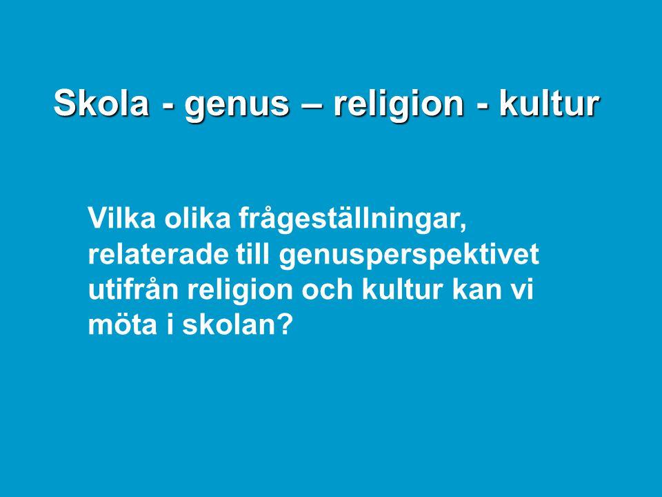 Skola - genus – religion - kultur