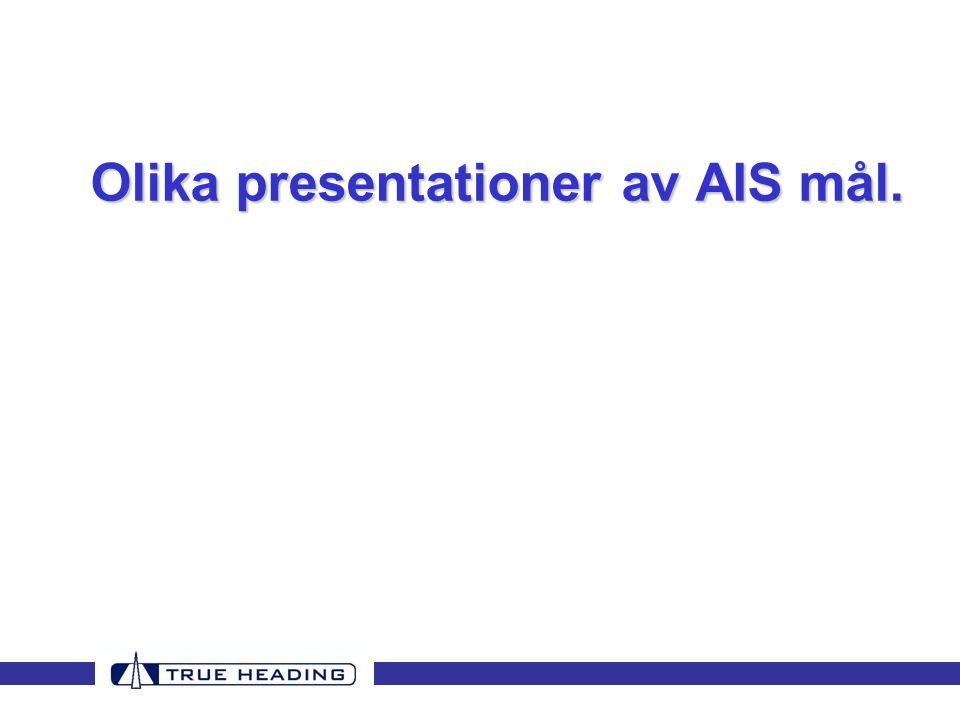 Olika presentationer av AIS mål.