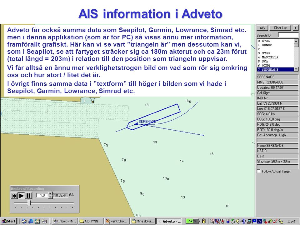 AIS information i Adveto