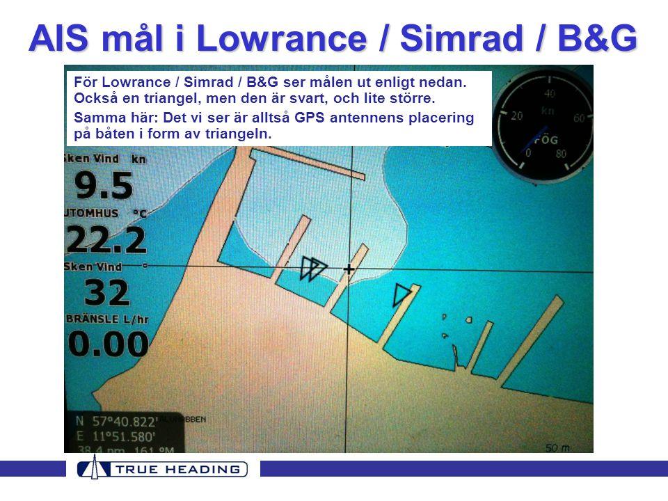 AIS mål i Lowrance / Simrad / B&G