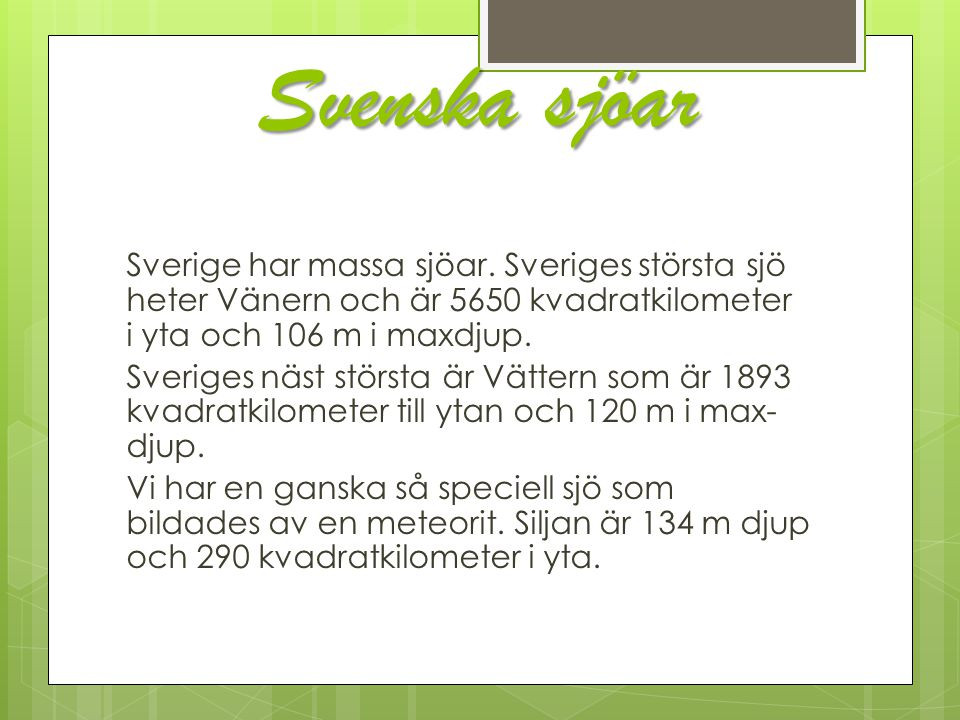 Svenska sjöar