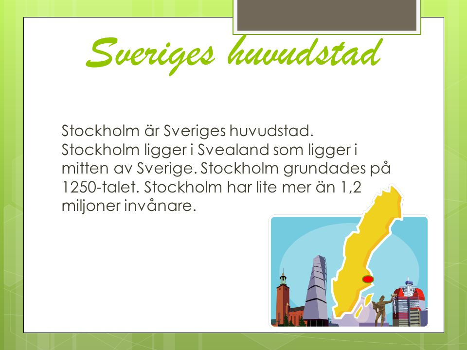 Sveriges huvudstad