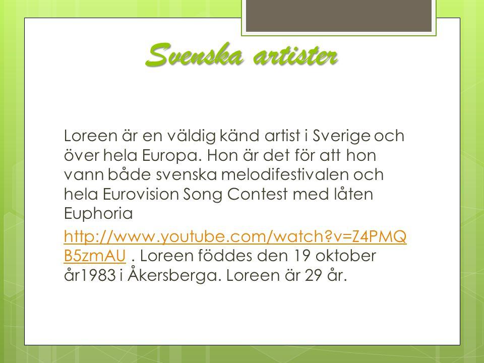 Svenska artister