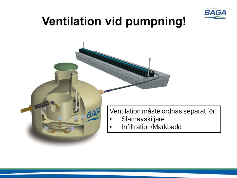 Ventilation vid pumpning!