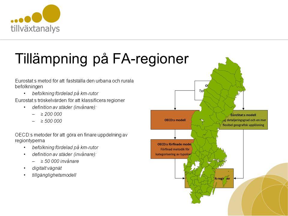 Tillämpning på FA-regioner