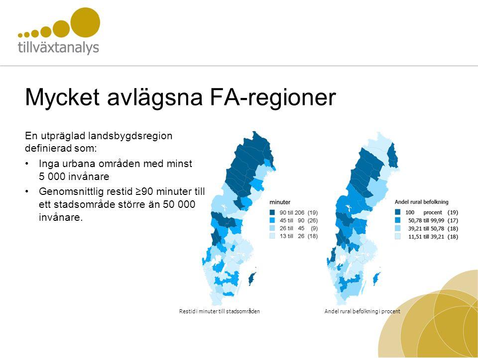 Mycket avlägsna FA-regioner